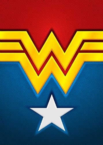 WONDER WOMAN - LOGO ART 1 canvas print - self adhesive poster - photo print